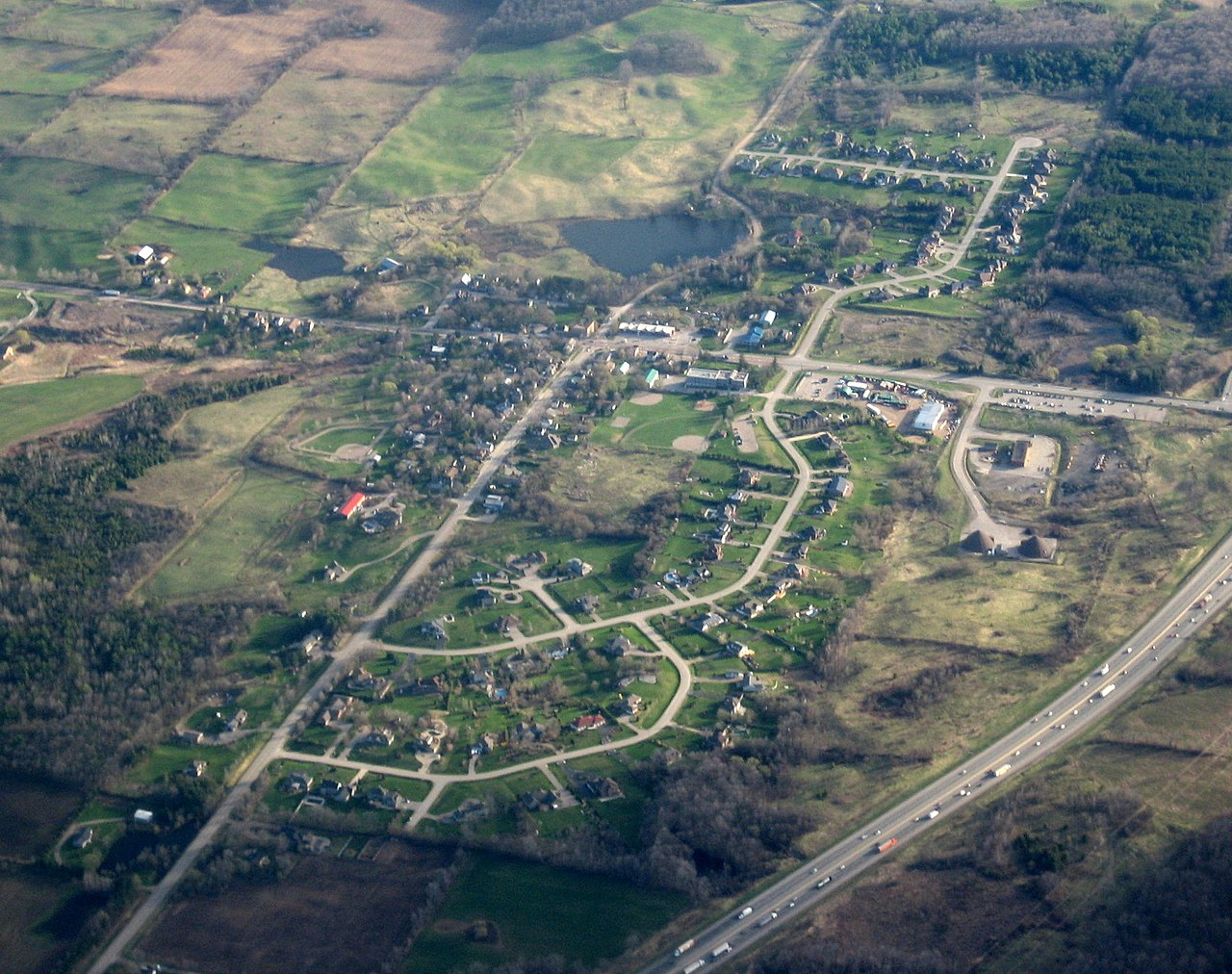 arial picture of puslinch ontario